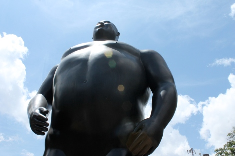 Botero's Adam statue (or Adan if you're thinking in Spanish)