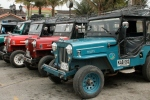 Jeeps, Salento's taxi of choice.